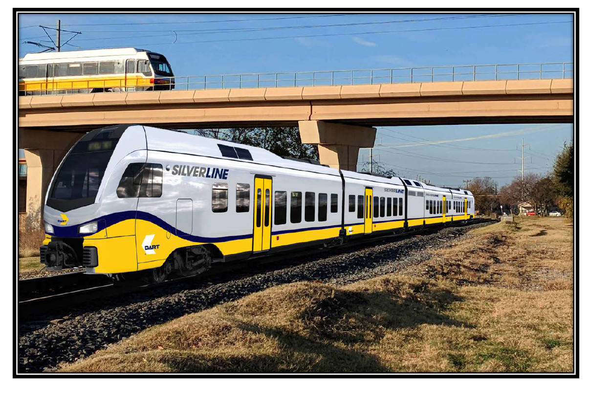 DART Renames Cotton Belt Commuter Service 'Silver Line'