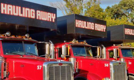 Tornado Debris Hauling Trucks Arrive