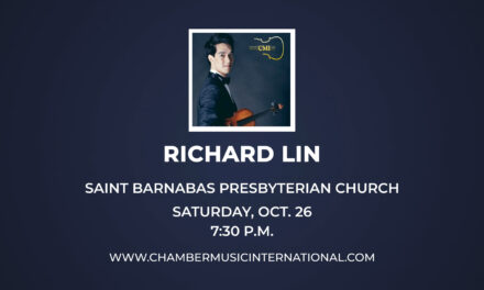 Chamber Music International Features Violin Gold Medalist Oct. 26