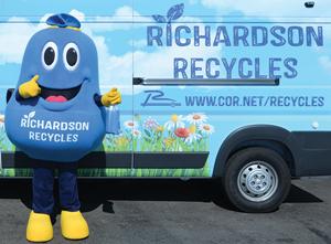 Recycling Mascot Sets November Appearance Calendar