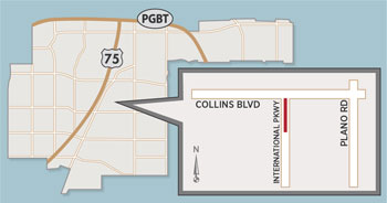 Lanes at Collins Boulevard and International Parkway to be Narrowed