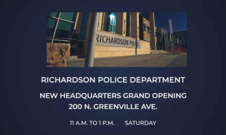 RPD Headquarters Grand Opening today 11 a.m. to 1 p.m., 200 n. greenville ave.