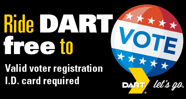 DART Offers Free Rides to Voters on Election Day