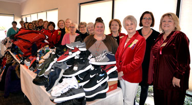 Richardson Woman's Club Helps RISD Clothes Closet with Shoes, Coats