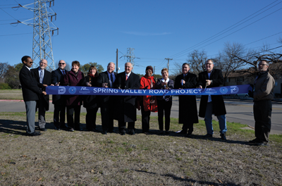 Spring Valley Road Project Complete; Ribbon Cutting Held Today