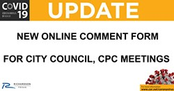 Online Public Comment Form Now Available for City Council, CPC Meetings