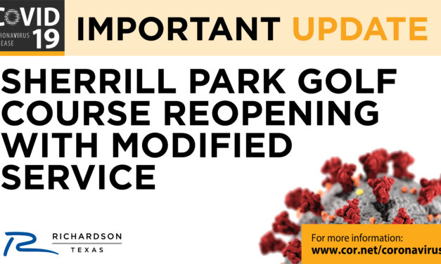 SHERRILL PARK GOLF COURSE RE-OPENING UNDER NEW GUIDELINES