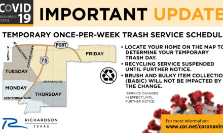 Richardson to temporarily suspend recycling and move to once-per-week trash service