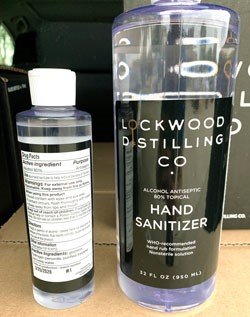 Business Provides Sanitizer