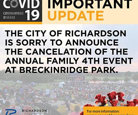 Richardson's Annual Family Fourth Celebration Canceled