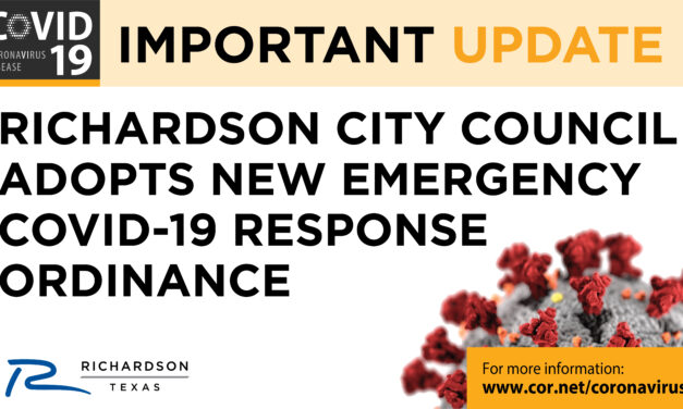 Richardson City Council Adopts New Emergency Covid-19 Response Ordinance