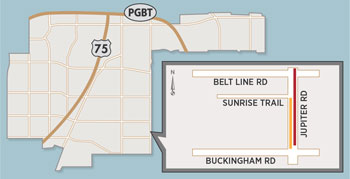 Lane Closures Expected on Jupiter Road Between Belt Line, Buckingham Roads