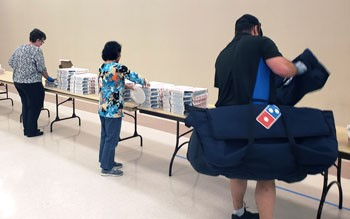 Domino's Pizza Gifts City Employees, Health Care Workers with Free Lunch