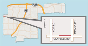 Utility Work to Close Lane Near Campbell/Mimosa