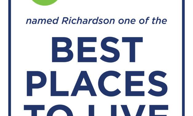 "Richardson among ""top places to live"""