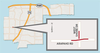 Lane Closures Expected Near Arapaho/West Shore
