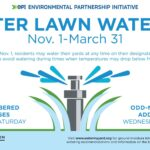 Winter Watering Schedule Begins Nov. 1